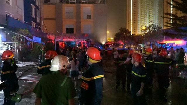200 chiến sĩ được huy động đến chữa cháy