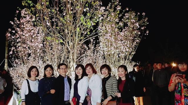 Du khách tha hồ chụp ảnh dưới gốc hoa Anh đào