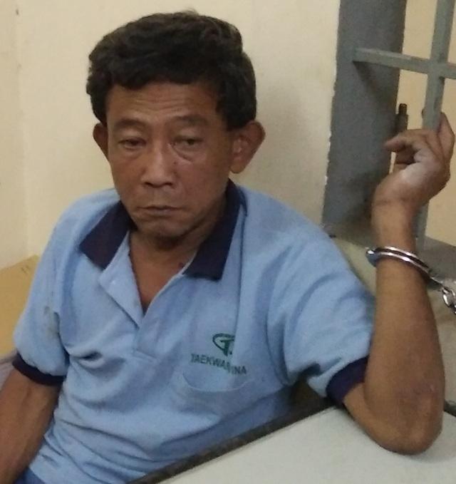 Nguyễn Văn Thanh tại cơ quan công an