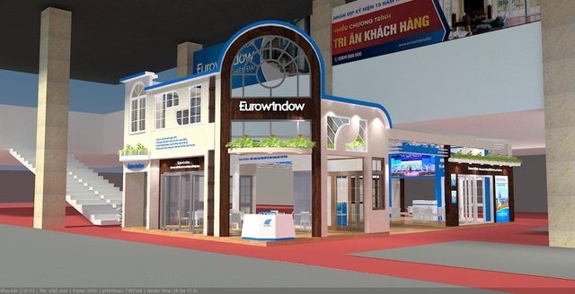 Tham quan khu trưng bày sản phẩm của Eurowindow tại nhà A1, Cung Triển lãm Quốc gia, số 1 Đỗ Đức Dục, Hà Nội
