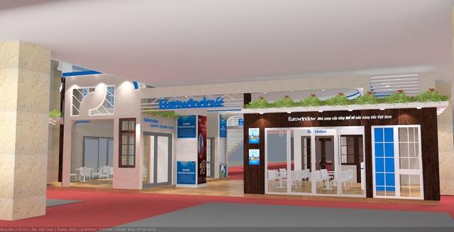Eurowindow liên tục là doanh nghiệ có gian hàng đẹp và duy mô nhất Vietbuild qua các kỳ Triển lãm