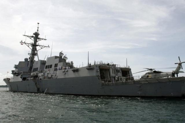 Tàu khu trục USS Mustin của Hải quân Mỹ (Ảnh: Reuters)