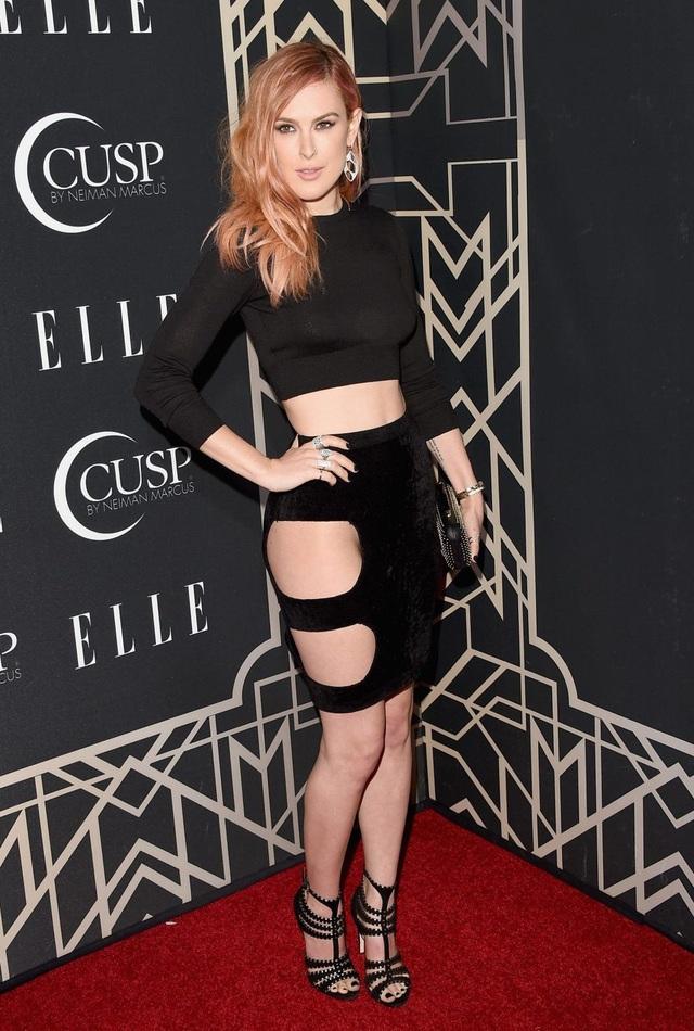 Nữ diễn viên Hollywood - Rumer Willis (29 tuổi) xuất hiện trên thảm đỏ sự kiện năm 2014.