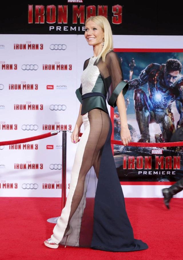 """Nữ diễn viên Gwyneth Paltrow (45 tuổi) trong lễ công chiếu phim """"Iron Man 3"""" (2013)."""