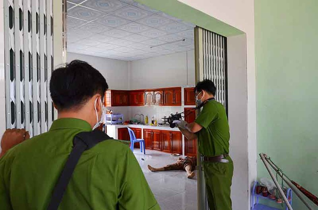 Hiện trường vụ giết người xảy ra tại nhà bà Phan Thị Đ.