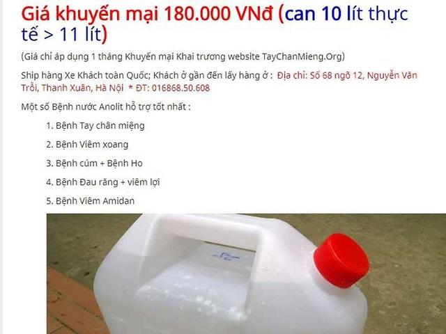 Sự thật về nước A chữa bách bệnh - 2