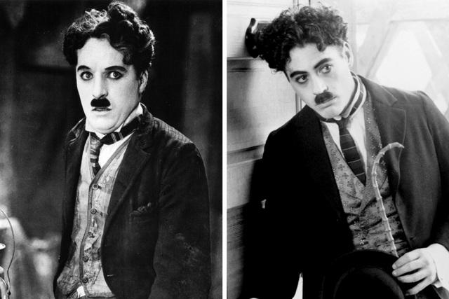 """Robert Downey Jr. (phải) vào vai danh hài người Anh Charlie Chaplin trong """"Chaplin"""" (1992)."""