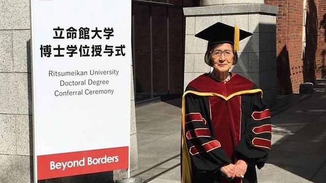 Cụ bà Kiyoko Ozeki, 88 tuổi (Ảnh: Đại học Risumeikan)