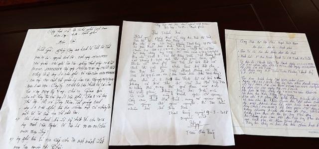 Đơn trình báo của các hộ dân trót đưa tiền cho Lê Văn Phú