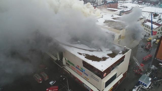 Vụ hỏa hoạn gây thiệt hại nặng nề về vật chất cho trung tâm mua sắm. Trần nhà tại các rạp chiếu phim đã sập. (Ảnh: Reuters)