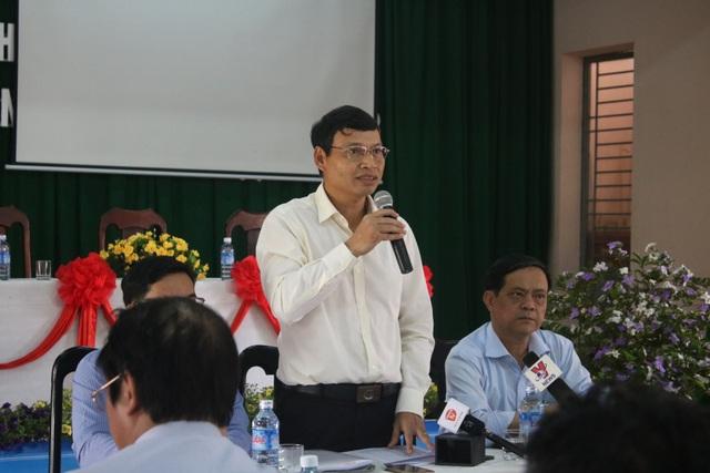 Phó Chủ tịch UBND TP Đà Nẵng Hồ Kỳ Minh phát biểu tại buổi thông báo kết luận về hoạt động của hai nhà máy thép