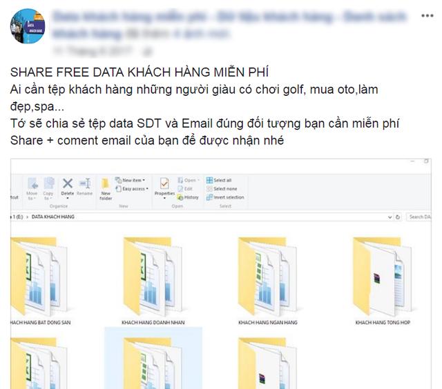 Chia sẻ dữ liệu miễn phí người dùng, nhưng lại yêu cầu tài khoản để lại email để liên hệ.