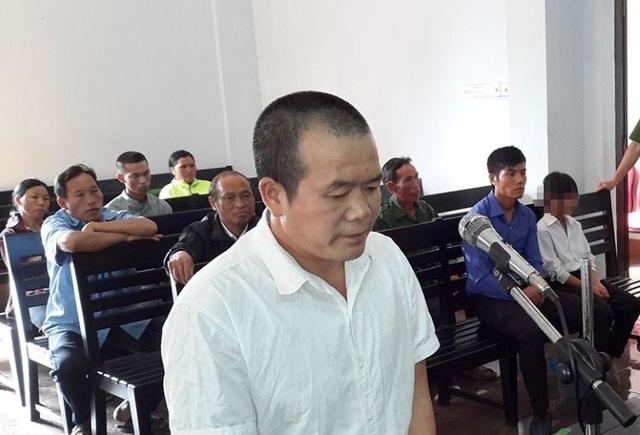 bị cáo Thiết tại phiên tòa sơ thẩm