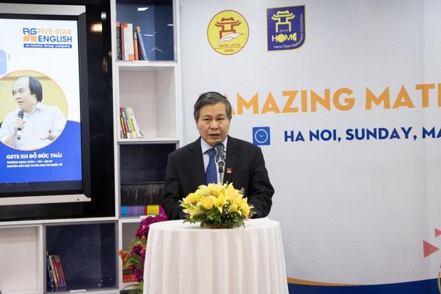 Ông Lê Ngọc Quang, Phó Giám đốc Sở GD&ĐT Hà Nội phát biểu tại hội thảo.