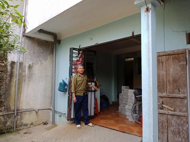 Phần đất phía sau căn nhà không nằm trong sổ đỏ mà là đất của gia đình ông Lương cho con trai mượn.
