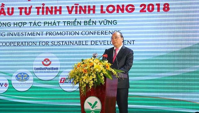Thủ tướng Chính phủ phát biểu tại hội nghị xúc tiến Vĩnh Long ngày 27/3
