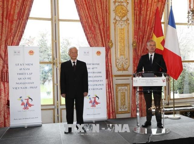 Chủ tịch Quốc hội Pháp Francois de Rugy phát biểu tại lễ kỷ niệm