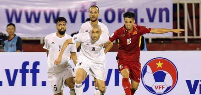 Đội tuyển Việt Nam hòa Jordan 0-0 trên sân Thống Nhất ở lượt đi hồi tháng 11/2017