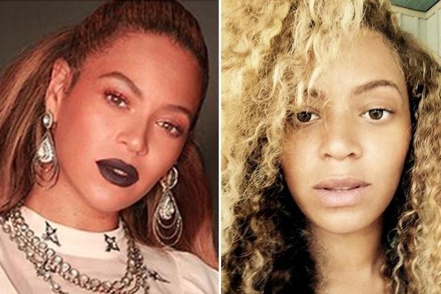 Nữ ca sĩ Beyonce (37 tuổi) và dung nhan tự nhiên khi ngủ dậy.