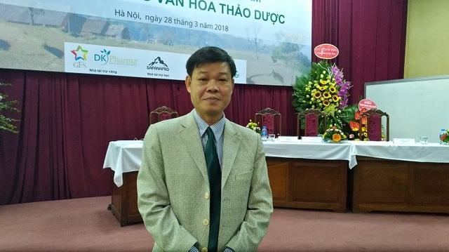PGS.TS Trần Văn Ơn, trưởng Bộ môn Thực vật – Trường ĐH Dược Hà Nội.