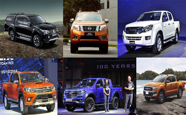 Hầu như toàn bộ phân khúc bán tải tại Việt Nam có nguồn cung từ Thái Lan, ngoại trừ mẫu UAZ pick-up nhập khẩu từ Nga có sức tiêu thụ và quy mô không lớn (Mekong Auto đã dừng lắp ráp mẫu Pronto Premio trong nước từ giữa năm 2017)