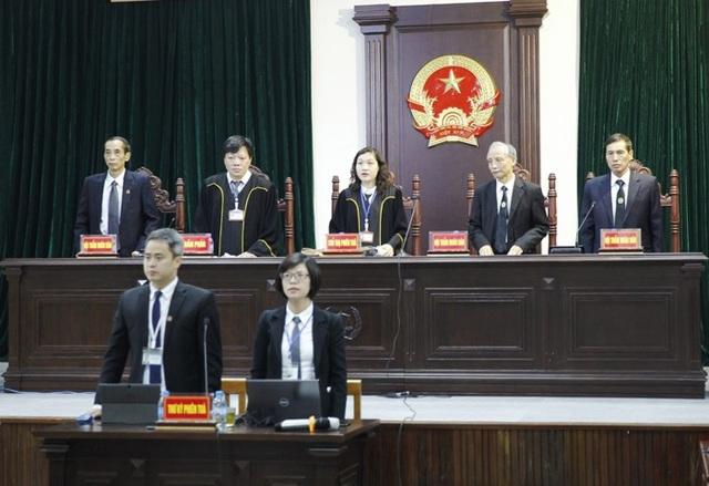HĐXX đang tuyên án ông Đinh La Thăng và các đồng phạm