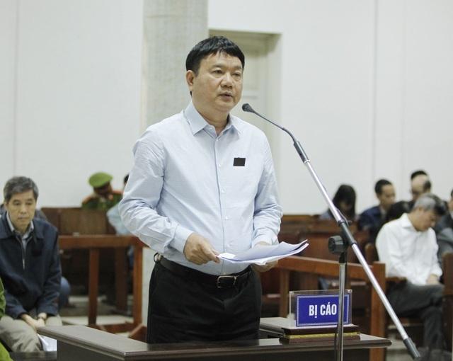 Cựu Chủ tịch HĐTV Tập đoàn Dầu khí Việt Nam tại phiên xử sơ thẩm.