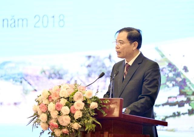 Bộ trưởng Bộ NN&PTNT Nguyễn Xuân Cường phát biểu tại Hội nghị...