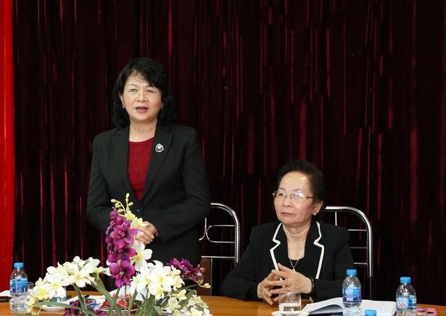 Phó Chủ tịch nước Đặng Thị Ngọc Thịnh phát biểu tại buổi làm việc.