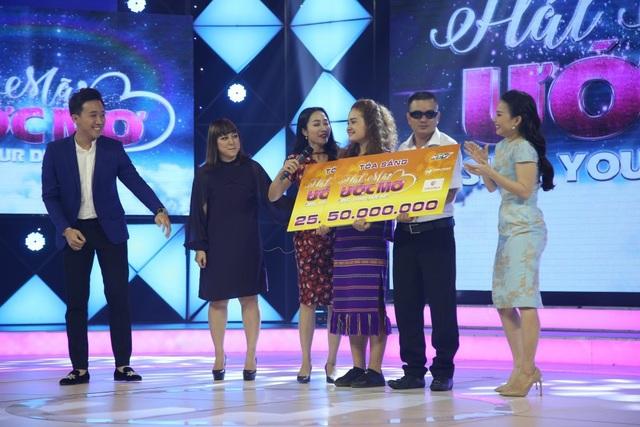 Thật bất ngờ khi cả hai cùng đồng số điểm của cả giám khảo lẫn khán giả trường quay nên được chia đôi tổng giải thưởng 75 triệu đồng, mỗi người mang về 37 triệu 5 trăm nghìn đồng để thực hiện ước mơ của mình.