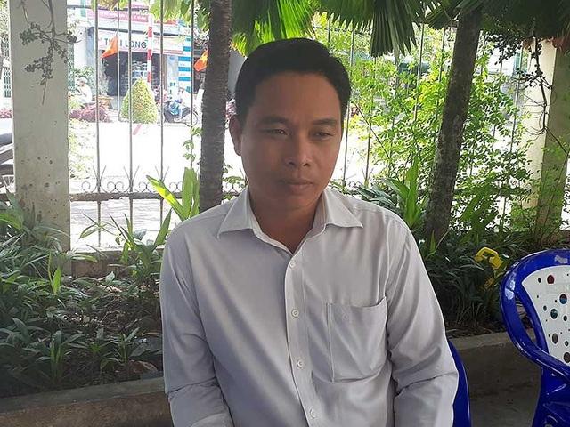 Ông Bùi Tuấn Khanh sau phiên tòa sáng qua. Ảnh: TRẦN VŨ