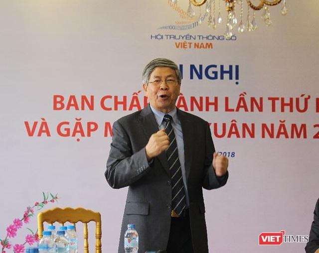 GS. TSKH Đặng Vũ Minh cho biết, ông ấn tượng về tuổi đời của các Hội viên Hội Truyền thông số Việt Nam.