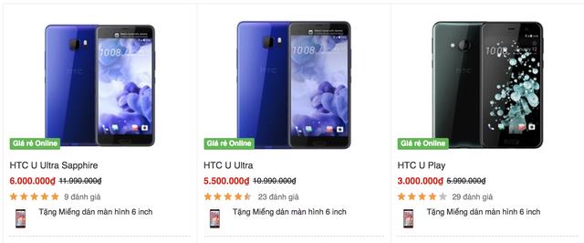 HTC giảm giá đồng loạt sản phẩm U tại Việt Nam
