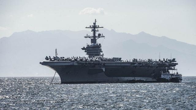 Ngày 23/1, tàu đã thực hiện tập trận thường quy với tàu đổ bộ tấn công số 1 thế giới USS America (LHA 6).
