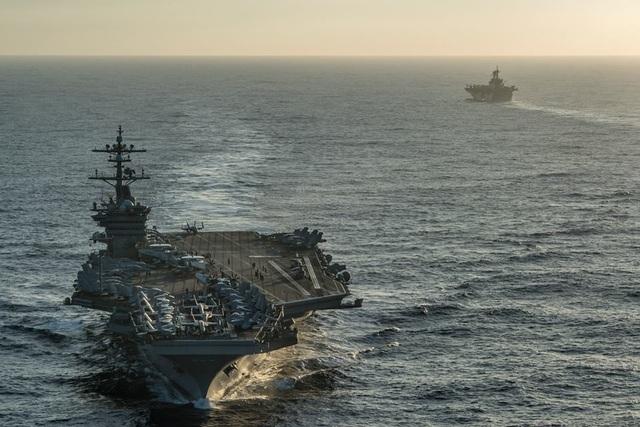 Hành trình băng qua Thái Bình Dương của tàu sân bay Mỹ trên đường tới Việt Nam - 1