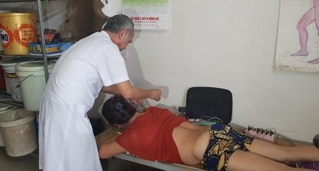 Tại thời điểm kiểm tra, Phòng chuẩn trị Đông y không phép đang hoạt động.