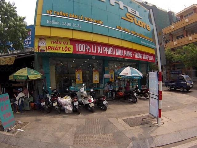 Cửa hàng điện thoại nơi xảy ra vụ cướp