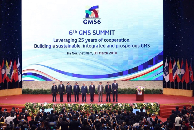 Lãnh đạo các nền kinh tế GMS tại Phiên họp toàn thể (ảnh: Hữu Nghị)