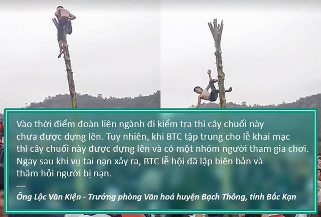 Xem thêm: Yêu cầu báo cáo về thanh niên bị ngã bất tỉnh khi trèo ngọn chuối lấy lộc trong lễ hội