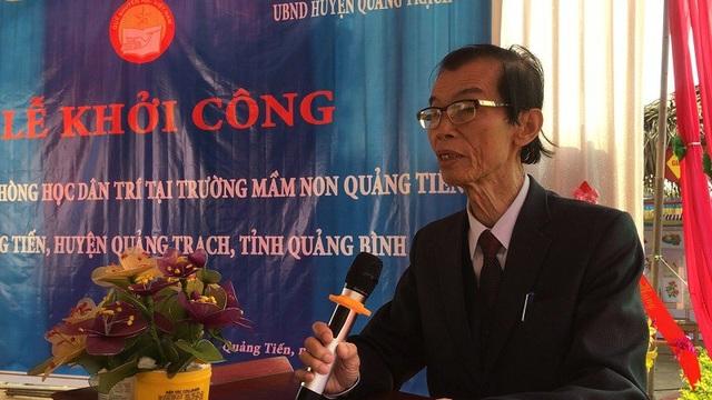 Nhà báo Phan Duy Thảo, Trưởng Văn phòng đại diện Báo Dân trí khu vực Bắc miền Trung phát biểu tại buổi lễ