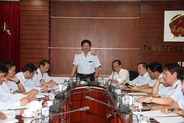 Ông Lê Minh Khái phát biểu tại buổi làm việc (Ảnh: TTCP).