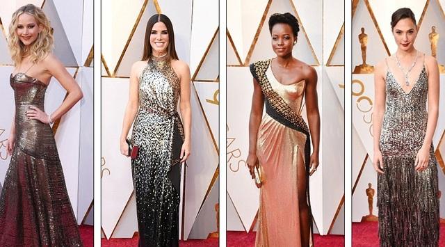 Jennifer Lawrence, Sandra Bullock, Lupita Nyongo và Gal Gadot đẹp kiêu sa trên thảm đỏ Oscar