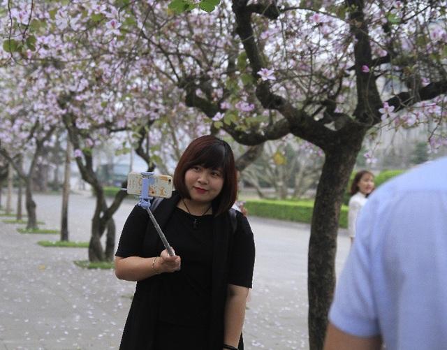 Bạn trẻ Thủ đô thích thú tạo dáng bên sắc tím hoa ban - 6