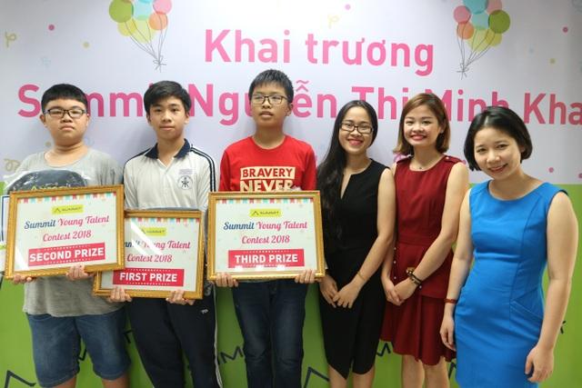 Trao giải Summit Young Talent Contest 2018 trong Lễ khai trương Summit chi nhánh 198 Nguyễn Thị Minh Khai - Q3 - TP Hồ Chí Minh