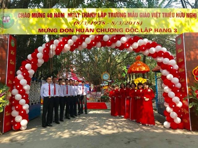 Trường mẫu giáo Việt Triều đón nhận Huân chương Độc lập hạng Ba - 4