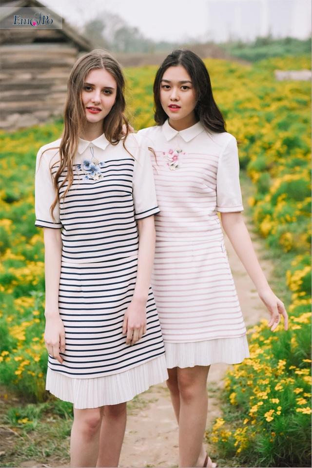 """Mang đến cho người mặc cảm giác nhẹ nhàng, thoải mái, BST """"Thanh Xuân"""" như một bức tranh thiên nhiên đầy màu sắc và hương vị tràn đầy sức sống của mùa xuân và tuổi trẻ."""