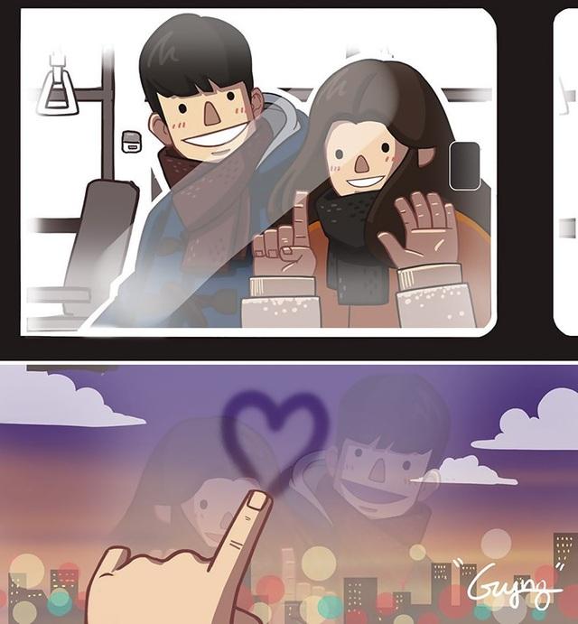 Một khung cửa kính cũng có thể trở thành cách tuyệt vời để cô ấy biểu lộ tình yêu.