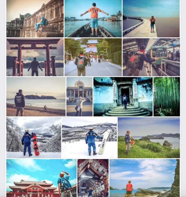 Album ảnh tự đặt máy chụp từ sau lưng của chàng trai Đà Nẵng trong những chuyến đi khắp thế giới.