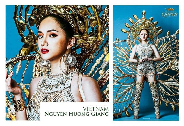 Đại diện Việt Nam - nữ ca sĩ Hương Giang Idol đang thể hiện tinh thần thi đấu tốt. Hương Giang cũng vừa ghi tên mình với giải thưởng Hoa hậu tài năng.