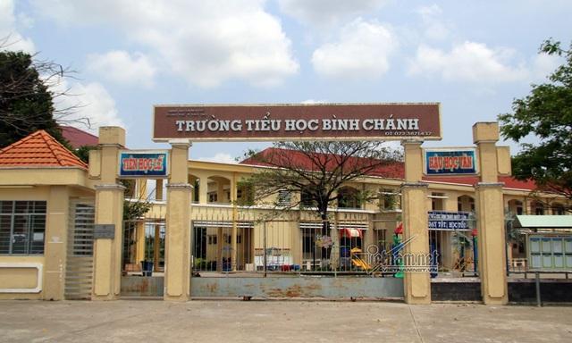 Trường tiểu học Bình Chánh, nơi xảy ra sự việc (Ảnh: vnn)